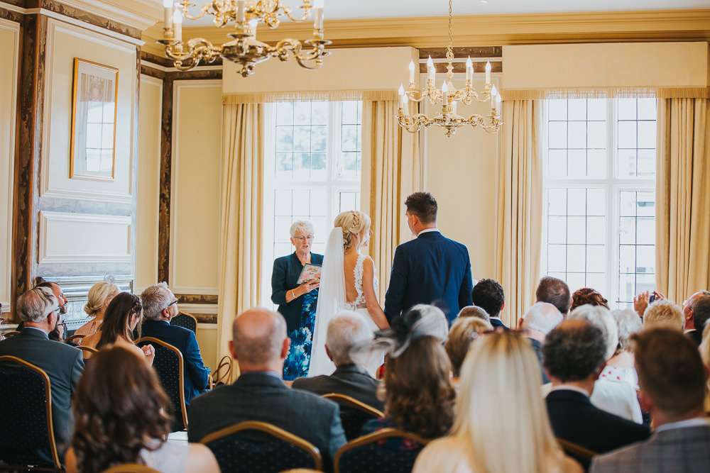 wedding ceremony at Edes House Chichester