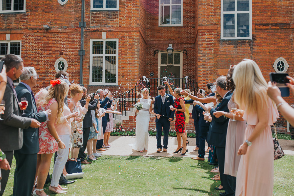 confetti at summer wedding at Edes House Chichester