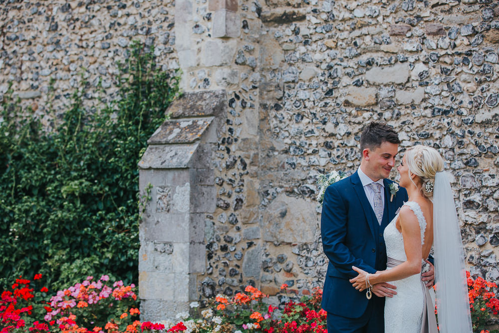 natural couple photos on wedding day at Edes House Chichester