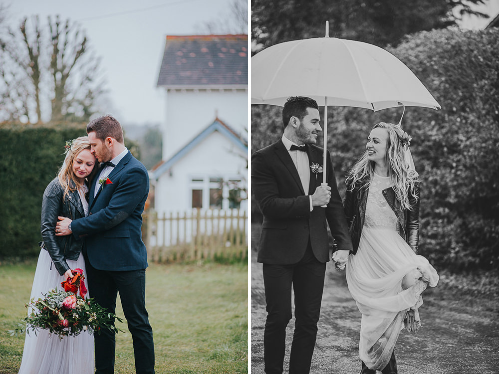 rainy wedding at sanctum on the green