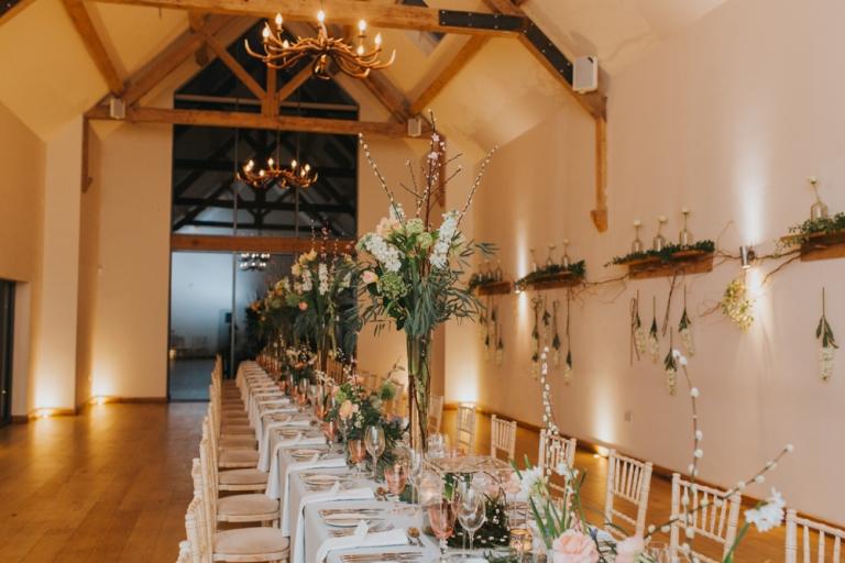 wedding breakfast room at millbridge court