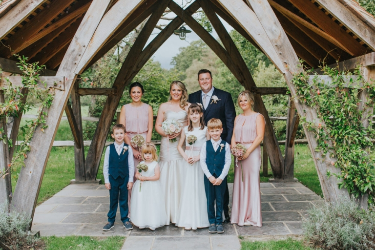 family photos at Millbridge Court Wedding