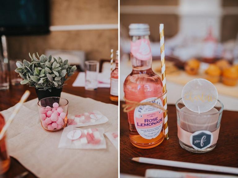 Rose Lemonade wedding favour